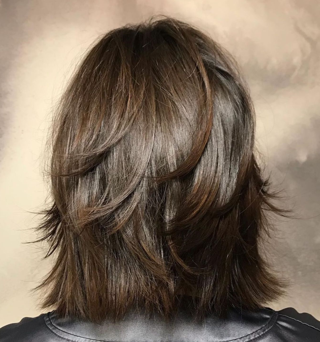 Pin On Hair Intended For Well Liked One Length Haircuts With Feathered Layers (View 17 of 20)