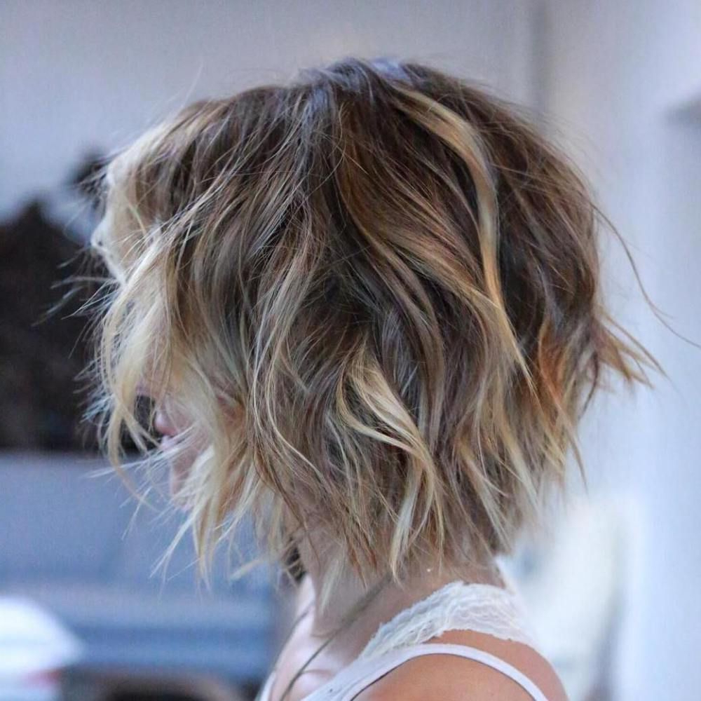 Pin On Hair Intended For Widely Used Layered Bob Shag Haircuts With Balayage (View 6 of 20)