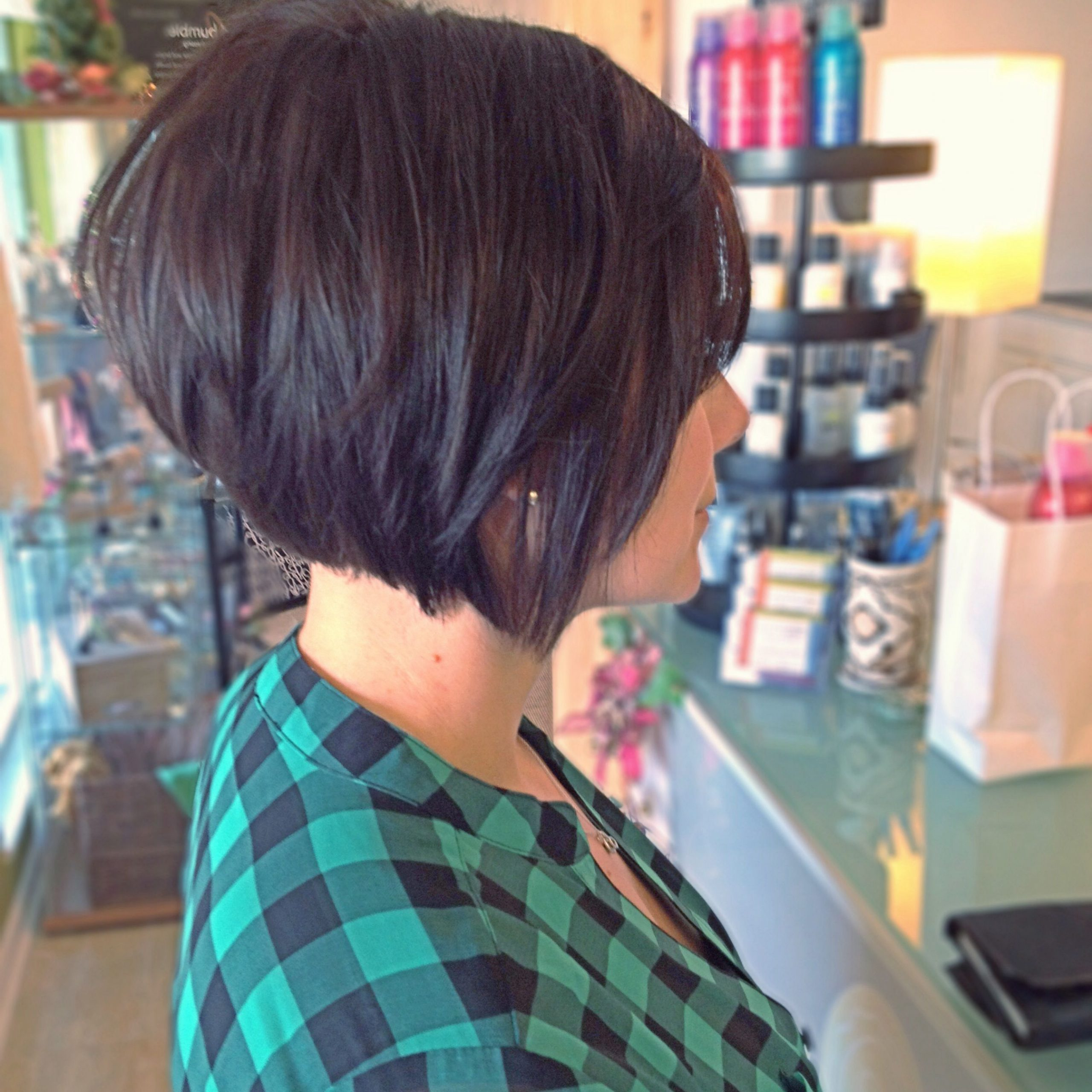 Pin On Hair, Makeup, And Nails In Most Current Black Angled Bob Hairstyles With Shaggy Layers (View 5 of 20)