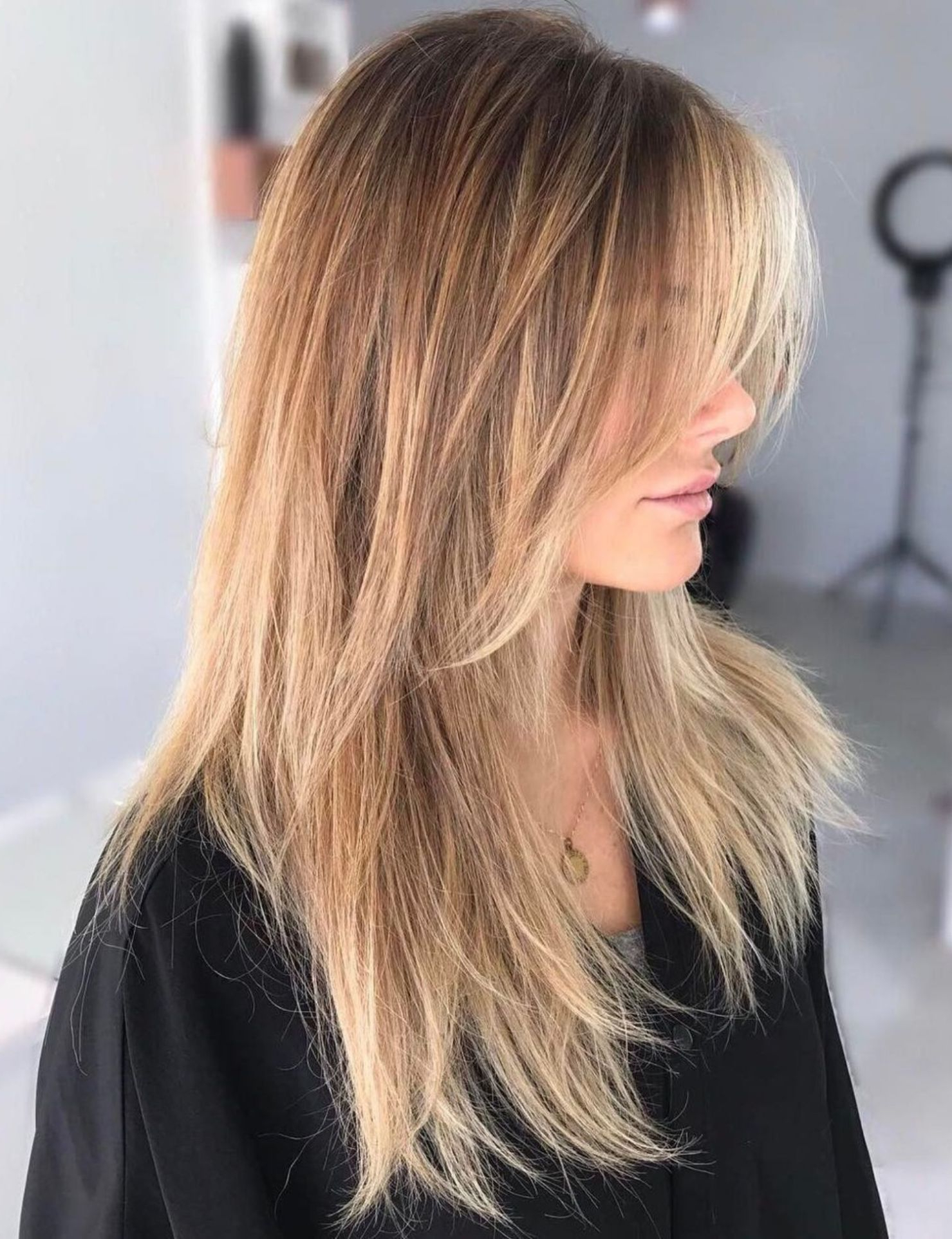 Pin On Hair & Makeup Pertaining To Famous Longer Tousled Caramel Blonde Shag Haircuts (View 14 of 20)