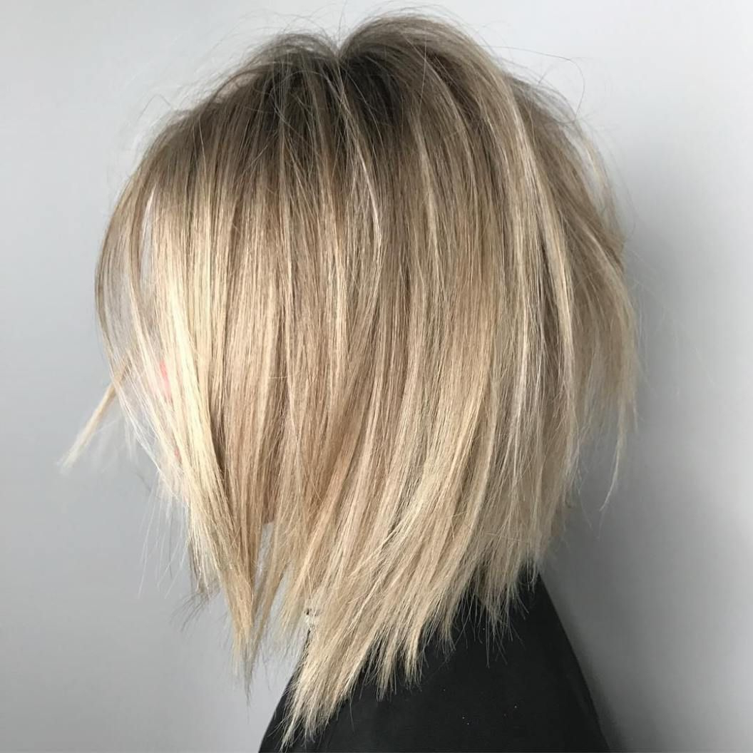 Pin On Hair Pertaining To Most Popular Razored Blonde Bob Haircuts With Bangs (Gallery 4 of 20)