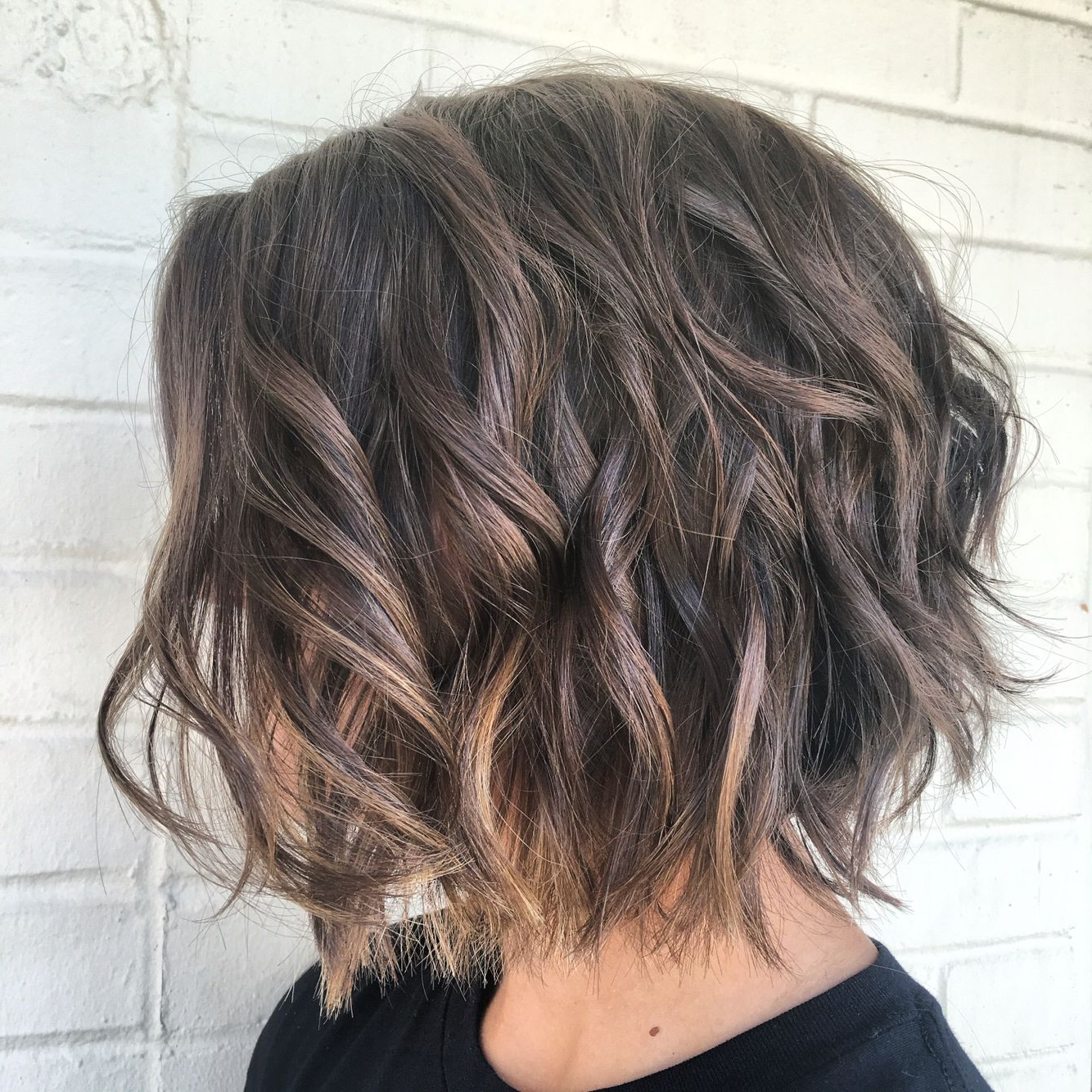 Pin On Hair Portfolio In Trendy Brunette Wavy Razored Shag Haircuts (Gallery 11 of 20)