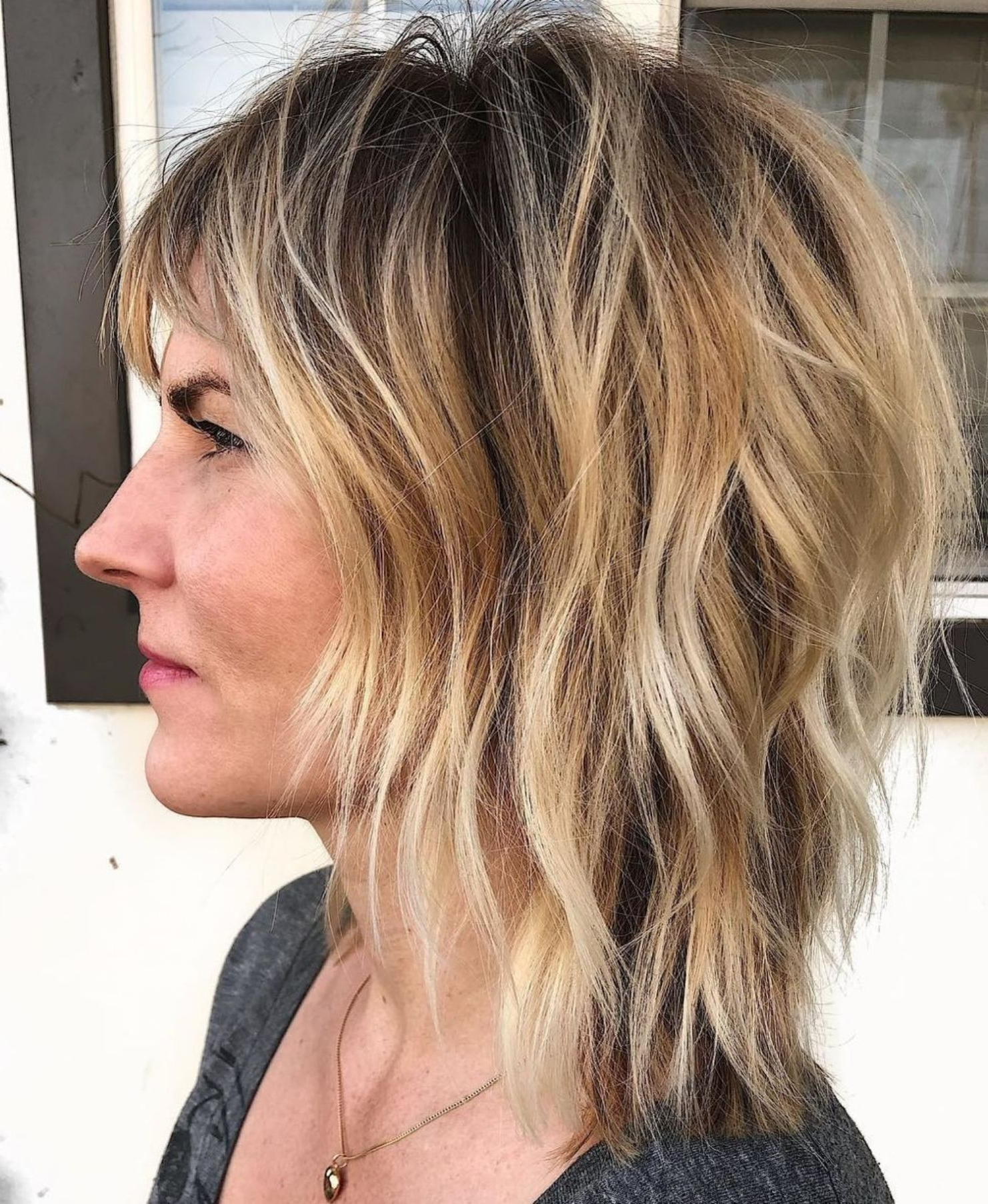 Pin On Hair Regarding 2018 Shoulder Length Shag Haircuts With Babylights (View 16 of 20)