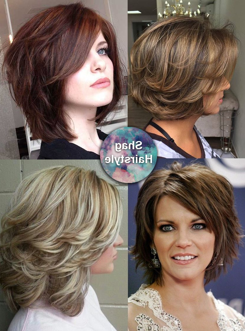 Pin On Hair Styles For Popular Feminine Feathered Shag Haircuts For Medium Hair (View 14 of 20)