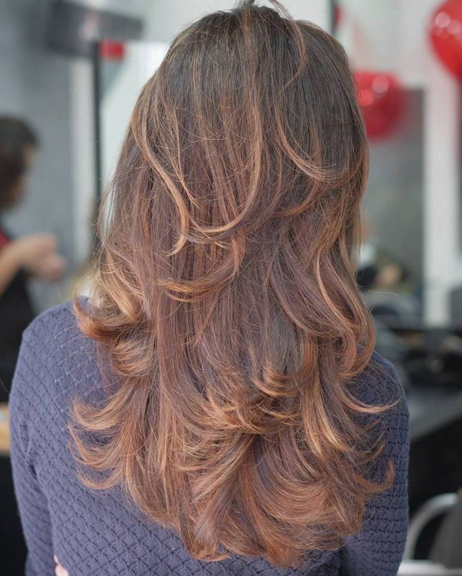 Pin On Hair Styles Pertaining To Well Known Long Layered Shag Hairstyles With Balayage (View 16 of 20)