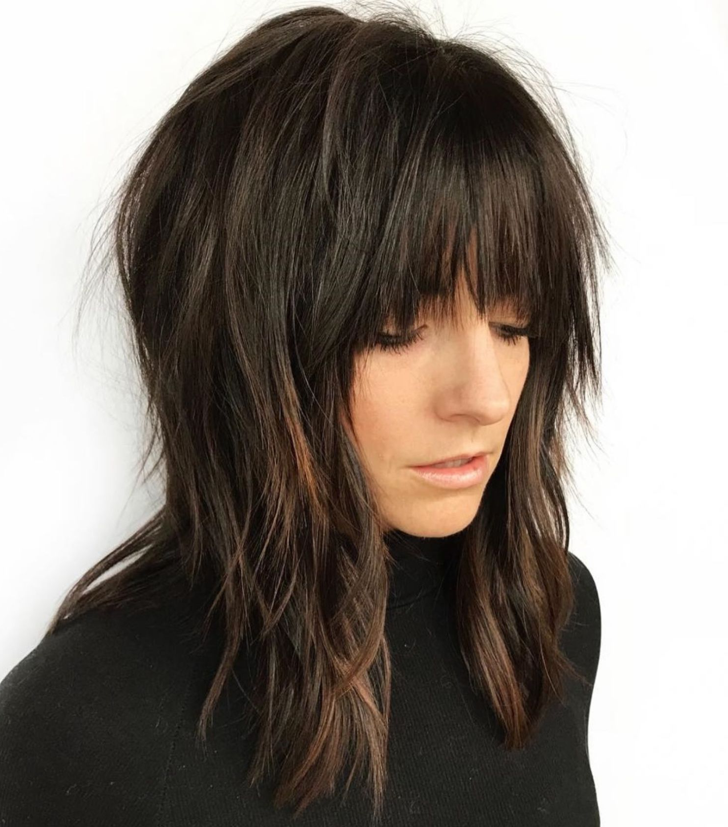 Pin On Hair Throughout Favorite Shaggy Haircuts With Uneven Bangs (View 7 of 20)