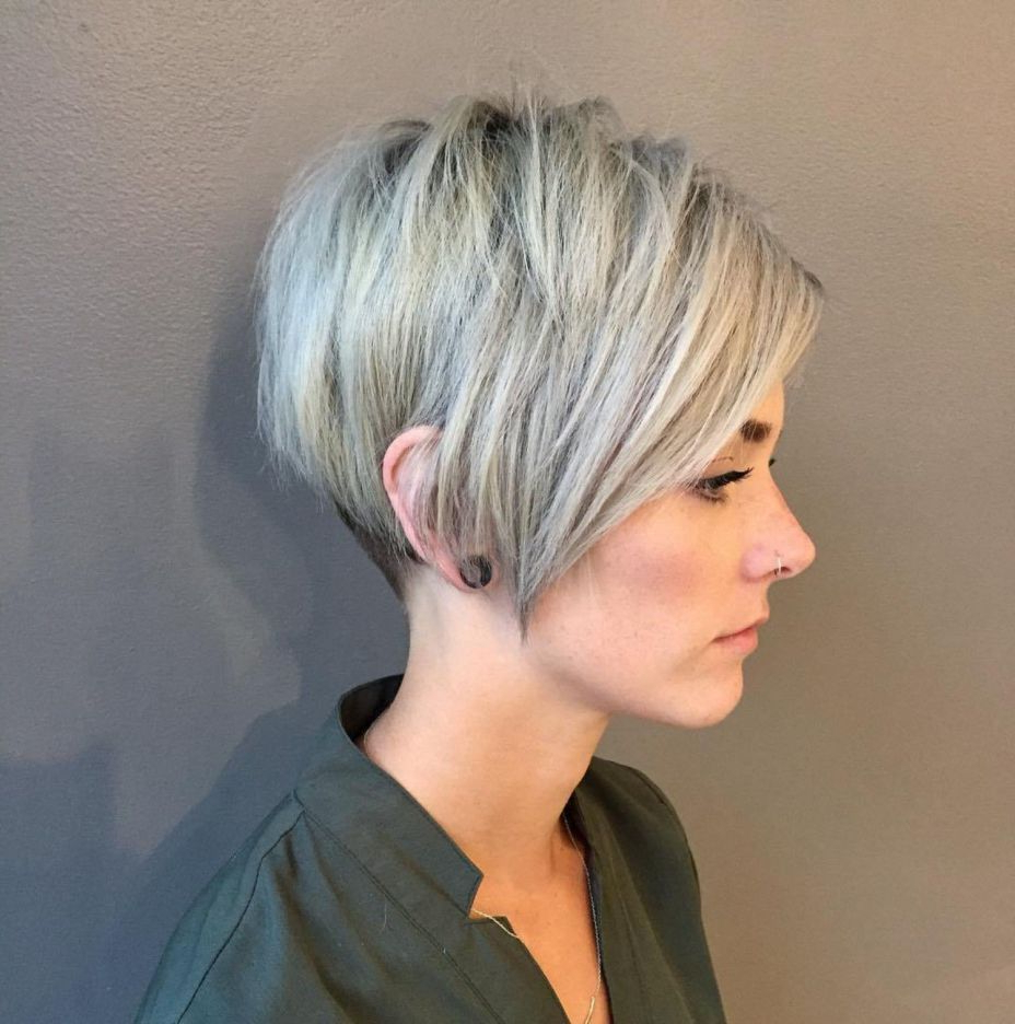 Pin On Hair With Edgy Ash Blonde Pixie Haircuts (Gallery 12 of 20)