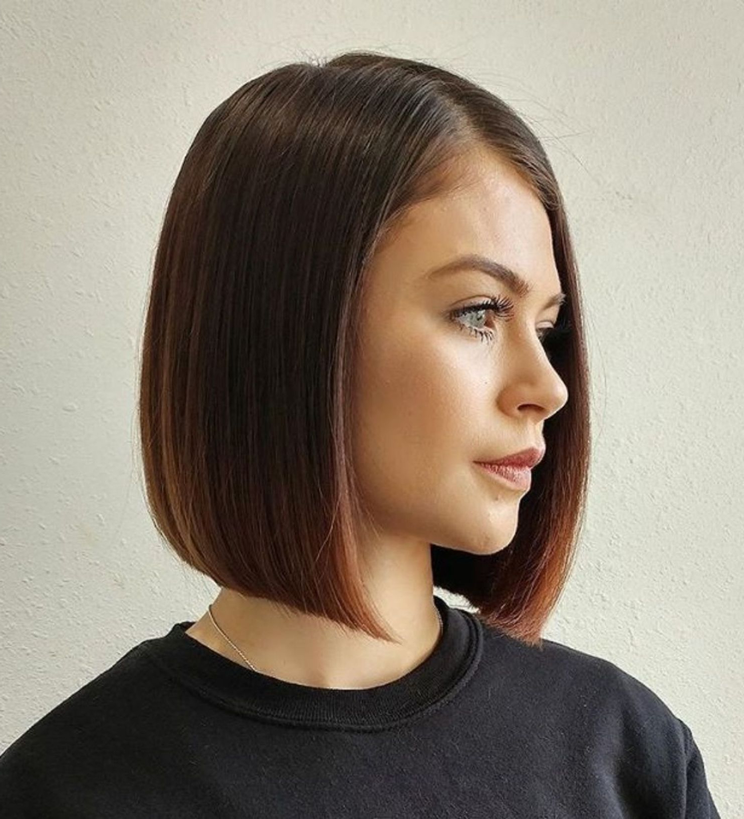Pin On Hair With Simple Side Parted Jaw Length Bob Hairstyles (Gallery 7 of 20)