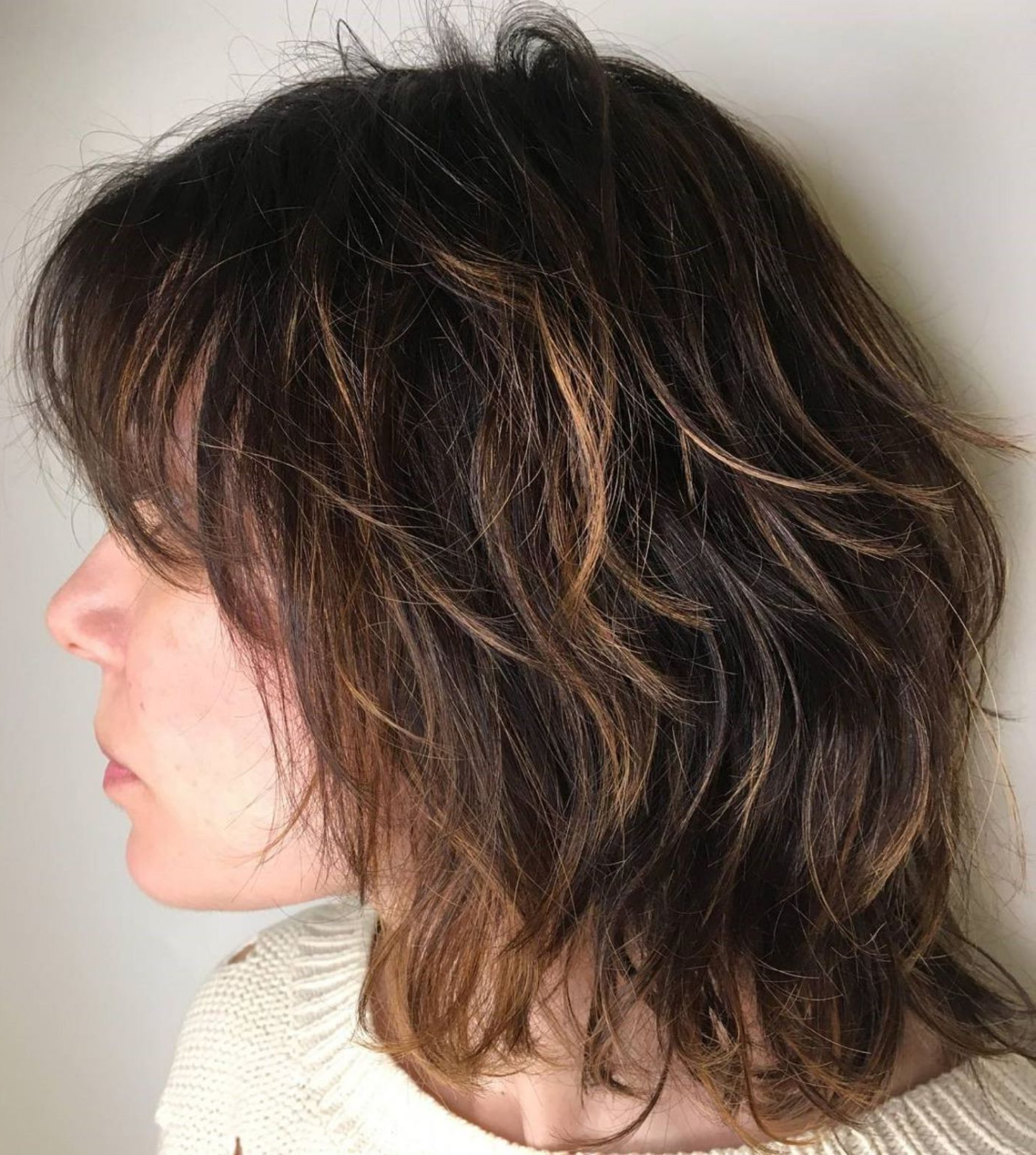 Pin On Hair Within Trendy Shoulder Length Shag Haircuts With Babylights (Gallery 1 of 20)