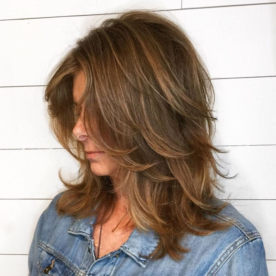 Pin On Haircut Pertaining To Most Popular Warm Toned Wavy Brunette Shag Hairstyles (View 2 of 20)