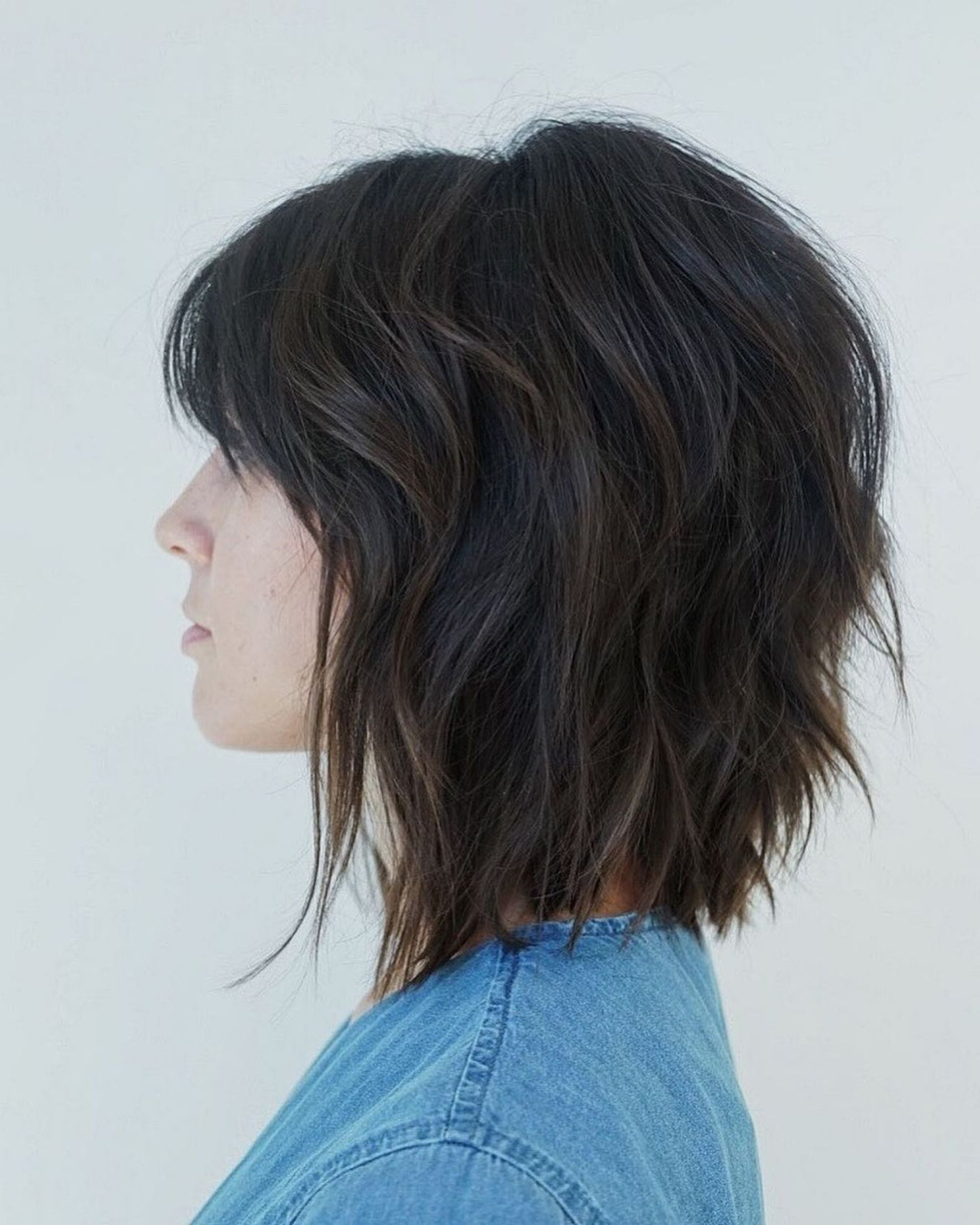 Pin On Haircuts Within Short Shaggy Brunette Bob Hairstyles (View 6 of 20)