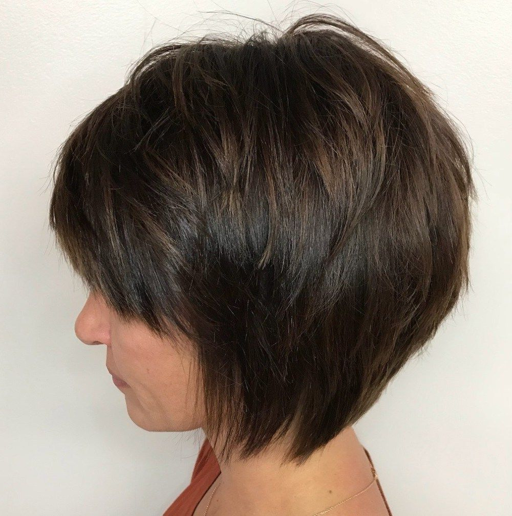 Pin On Hairstyles In Tapered Shaggy Chocolate Brown Bob Hairstyles (Gallery 1 of 20)