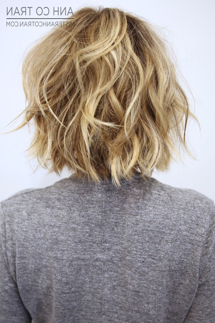 Pin On Hairstyles Pertaining To Choppy Blonde Bob Hairstyles With Messy Waves (View 6 of 20)