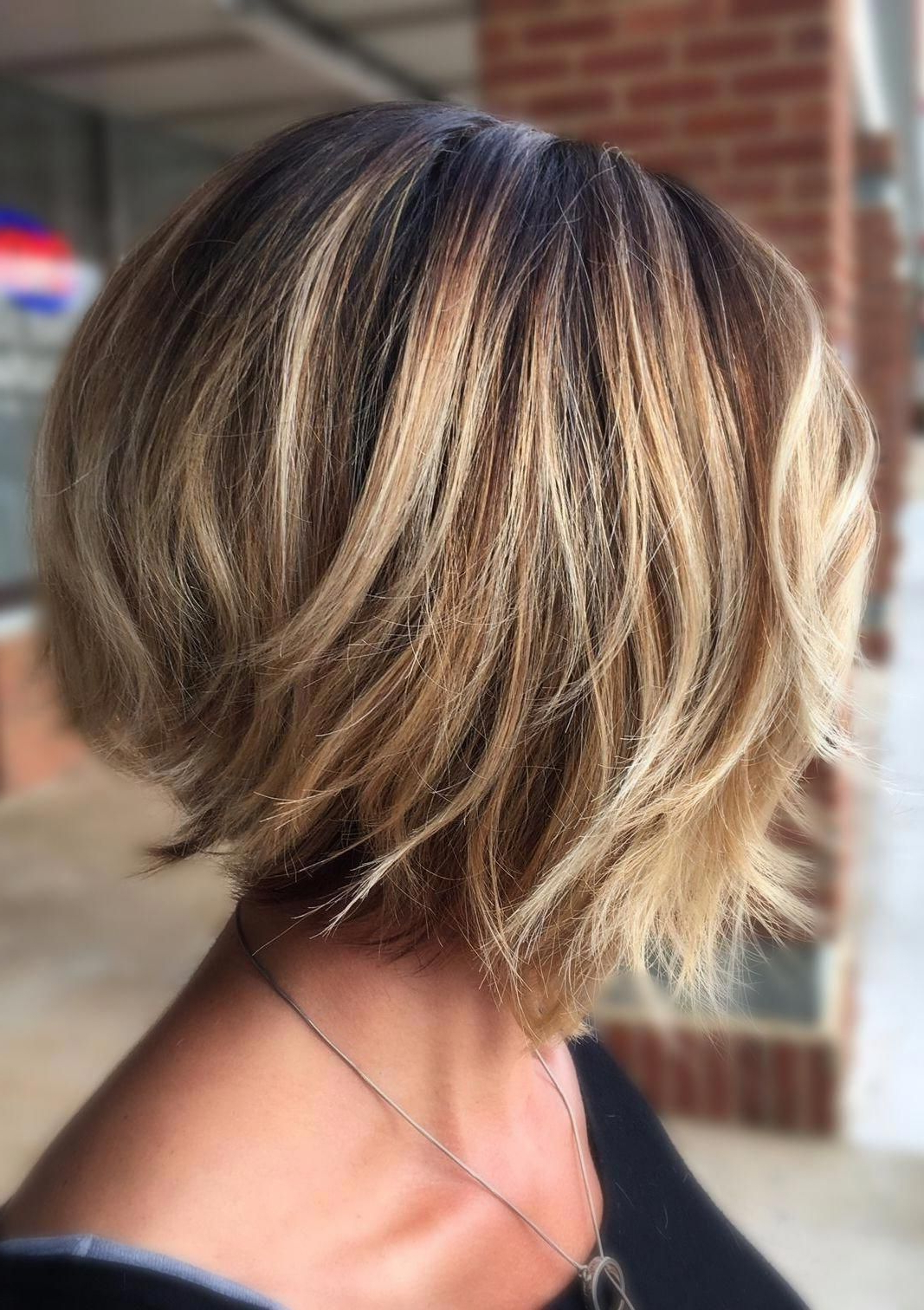 Pin On Layering Ideas In Fashionable Feathered Golden Brown Bob Hairstyles (View 18 of 20)