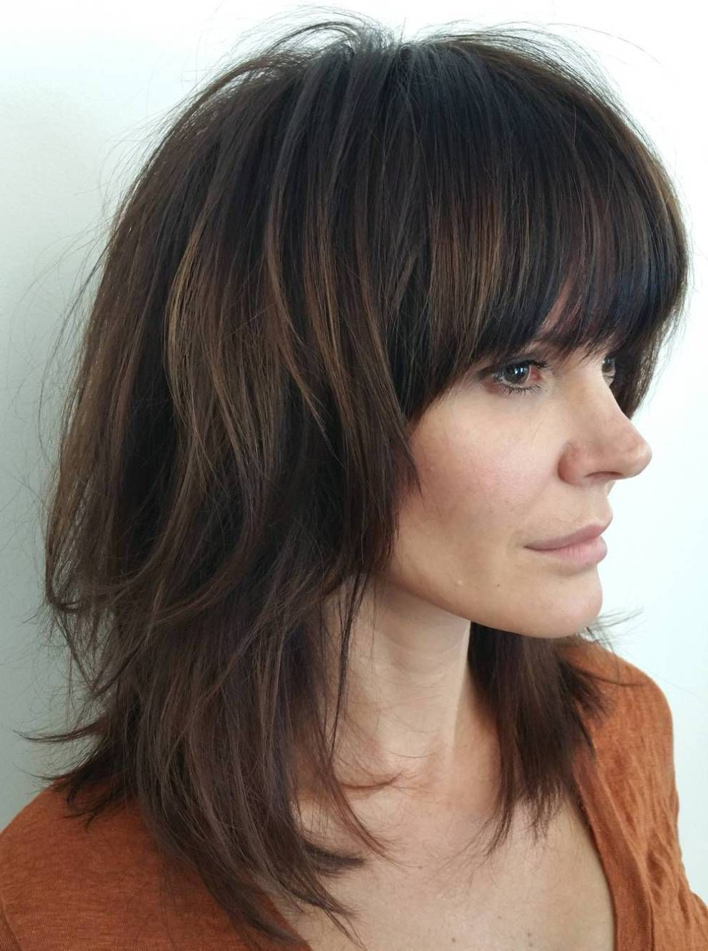 Pin On Long Beautiful Hair,, For Most Up To Date Edgy Messy Shag Haircuts With Bangs (View 2 of 20)