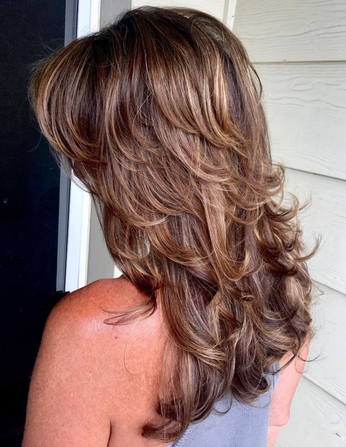Pin On Long Hairstyles In Flawless Curls Shag Haircuts (View 15 of 20)