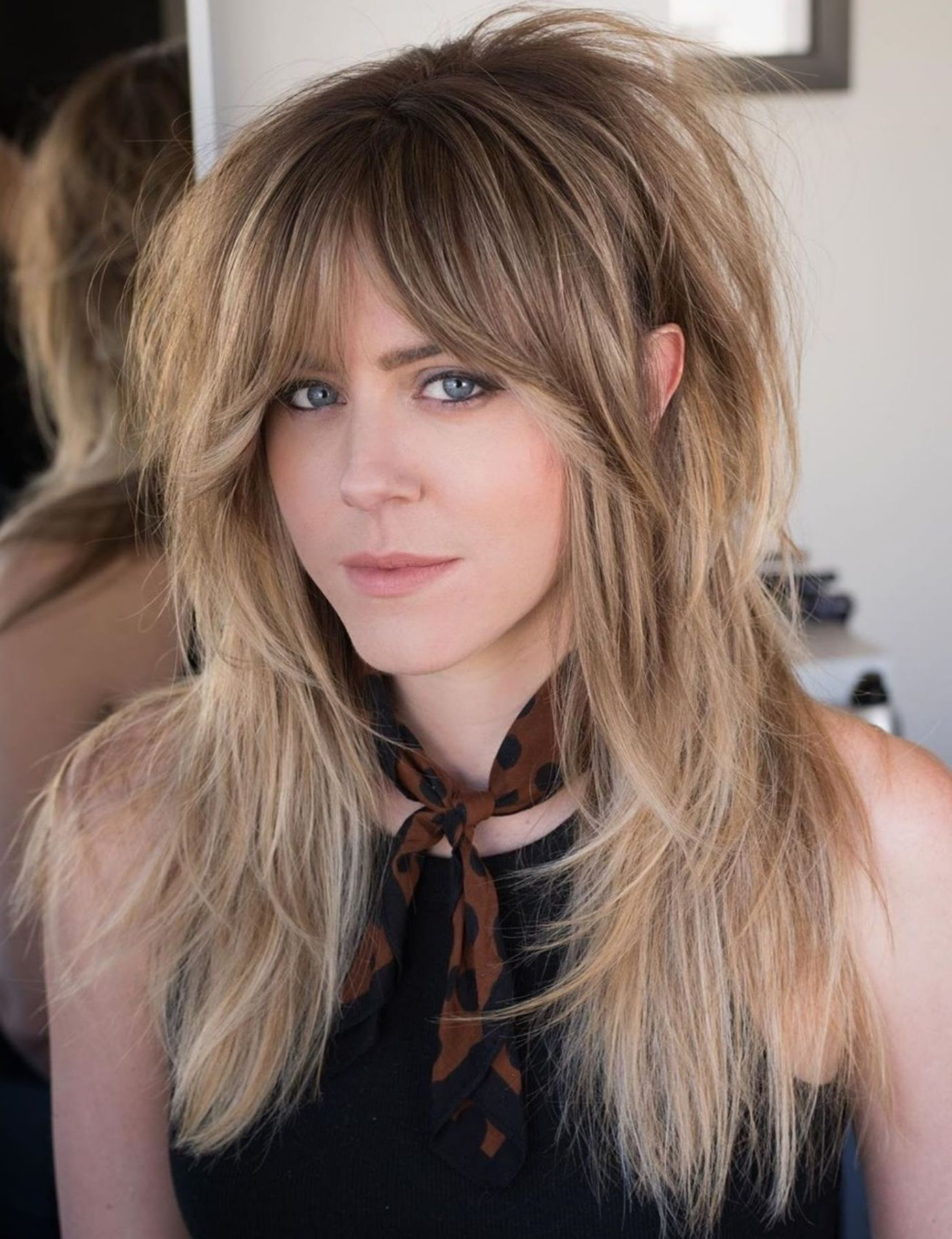 Pin On Makeup With Most Recently Released Long Feathered Shag Haircuts For Fine Hair (View 3 of 20)
