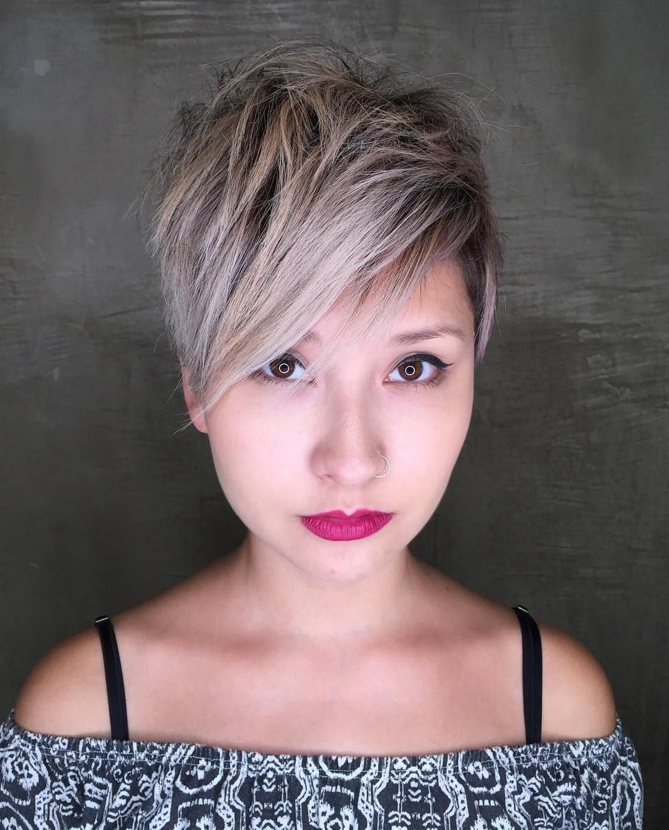 Featured Photo of Messy Spiky Pixie Haircuts With Asymmetrical Bangs