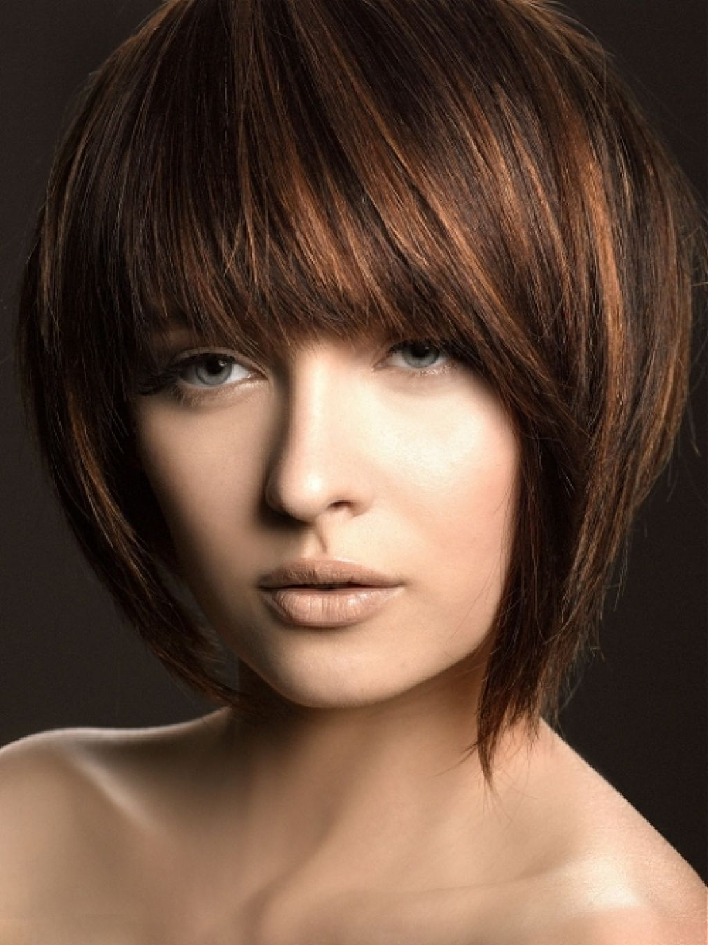Pin On My Style Inside Color Highlights Short Hairstyles For Round Face Types (View 16 of 20)
