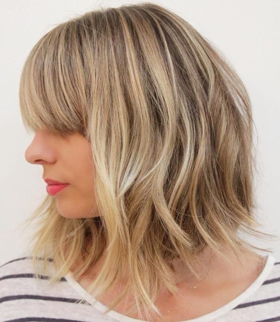 Pin On My Style Regarding Fashionable Mid Length Choppy Haircuts For Thick Hair (View 15 of 20)