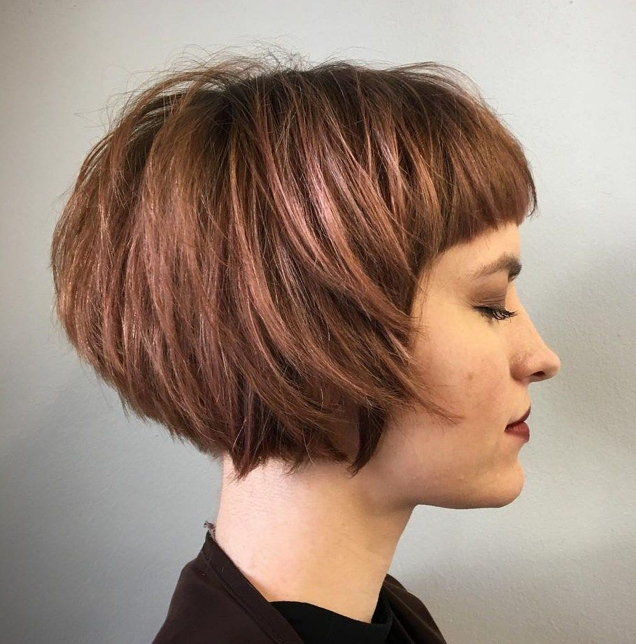 Featured Photo of Short Bob Hairstyles With Cropped Bangs