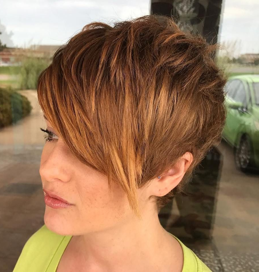 Pin On Pixie Cuts In Most Current Feathered Pixie Shag Haircuts With Highlights (Gallery 2 of 20)