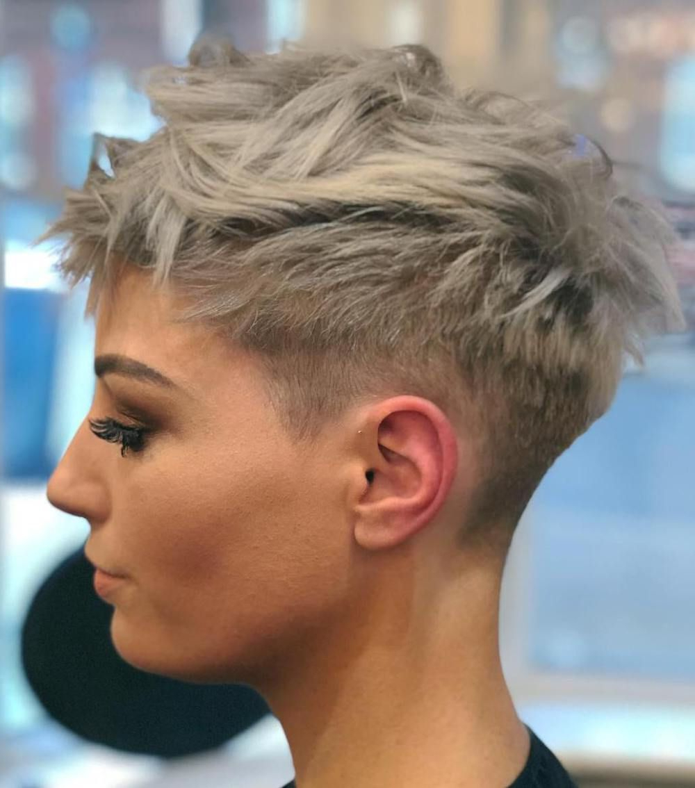 Pin On Pixie With Edgy Ash Blonde Pixie Haircuts (View 3 of 20)