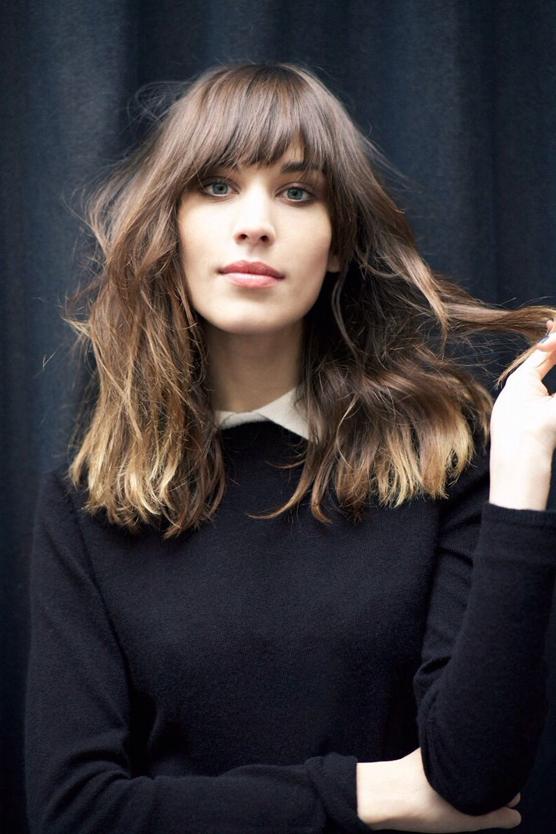 Pin On Random For Preferred Medium Tousled Haircuts With Bangs (View 7 of 20)