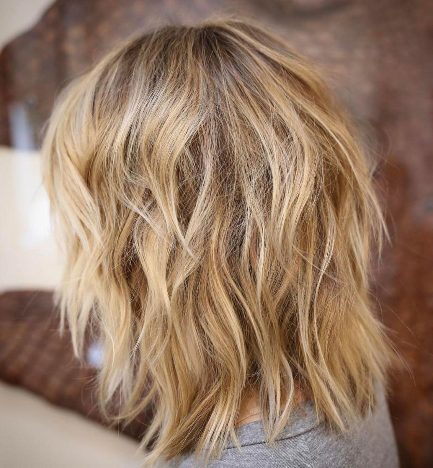 Pin On Rockin Blond Regarding Popular Medium Loose Chocolate Shag Haircuts (View 17 of 20)