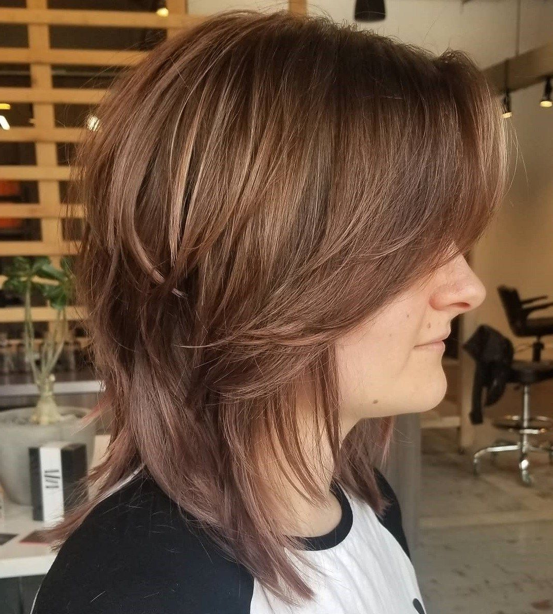 Pin On Short Shag Hairstyles In Favorite Razored Shaggy Chocolate And Caramel Bob Hairstyles (View 4 of 20)