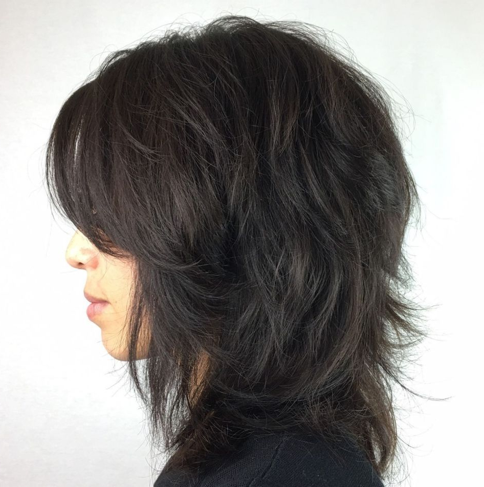 Pin On Summer With Regard To Trendy Long Wispy Brunette Shag Haircuts (View 18 of 20)