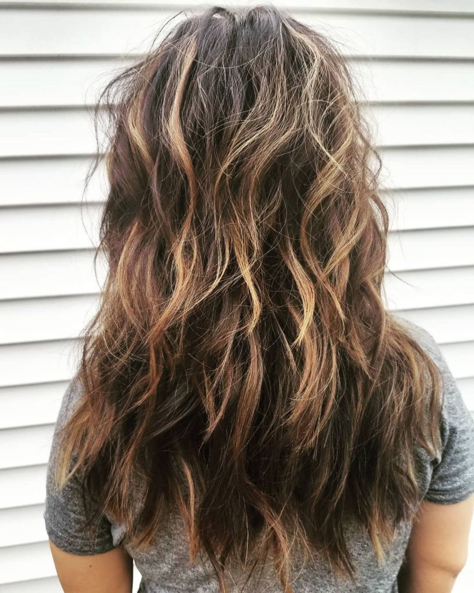 Featured Photo of Frizzy Choppy Long Shag Hairstyles