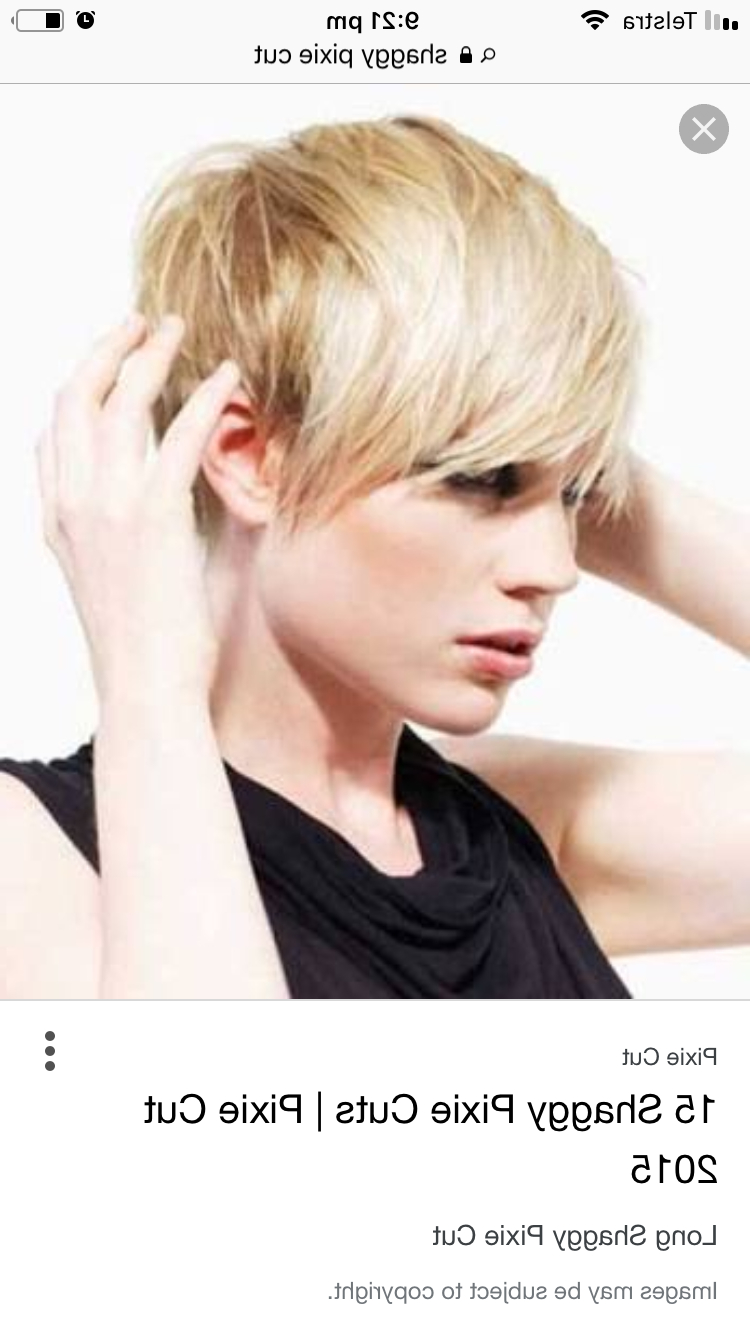 Pinmelissa Nordquist On Hair Styles I Love | Blonde Regarding Straight Long Shaggy Pixie Haircuts (View 6 of 20)