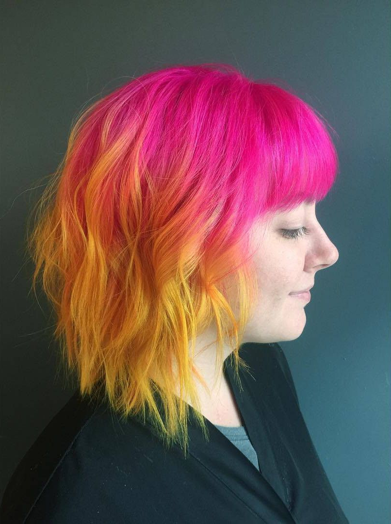 Pinsteph Powell Hair On Hair Inspiration In 2019 Pertaining To Pink Shaggy Haircuts (View 6 of 20)
