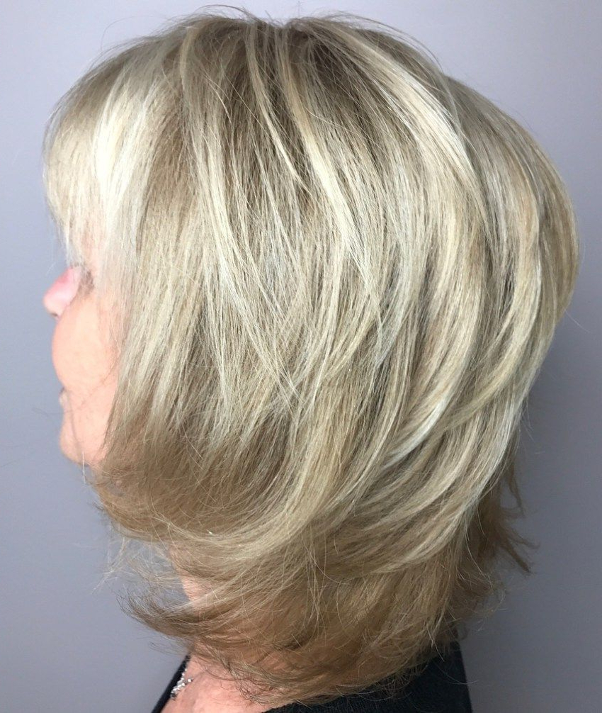 Popular Elongated Feathered Haircuts Intended For 20 Shaggy Hairstyles For Women With Fine Hair Over 50 In (View 3 of 20)