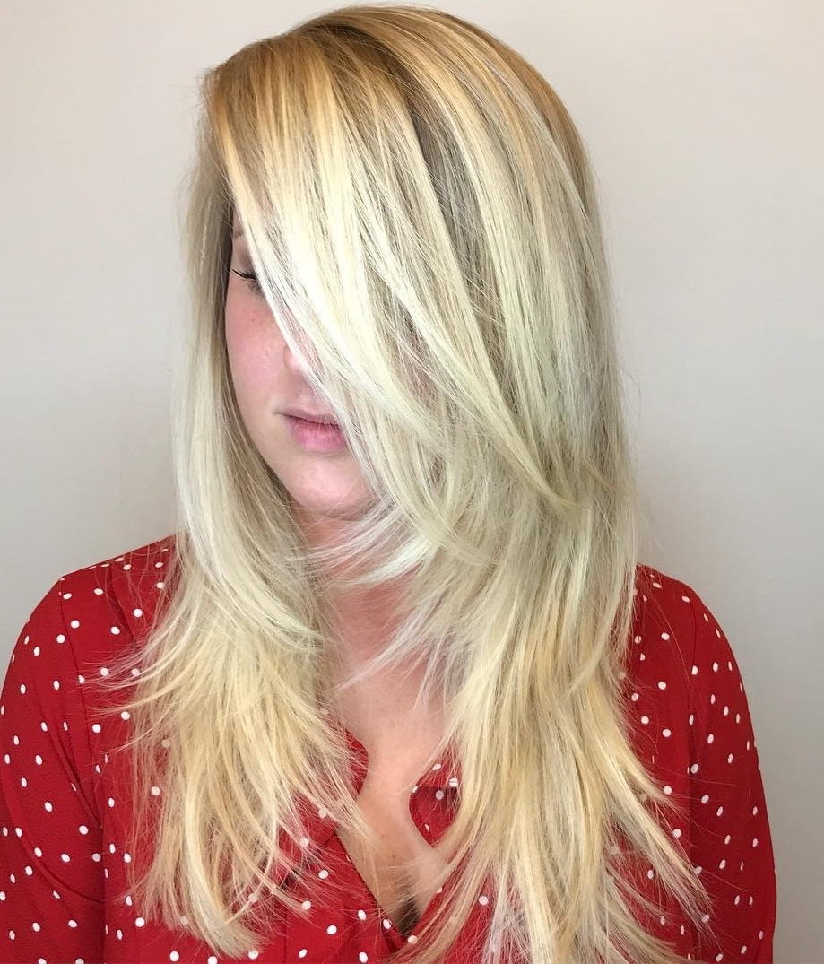 Popular Gorgeous Toasted Coconut Shag Haircuts Pertaining To 50 Luscious Hairstyles For Long Thin Hair – Hair Adviser (View 15 of 20)