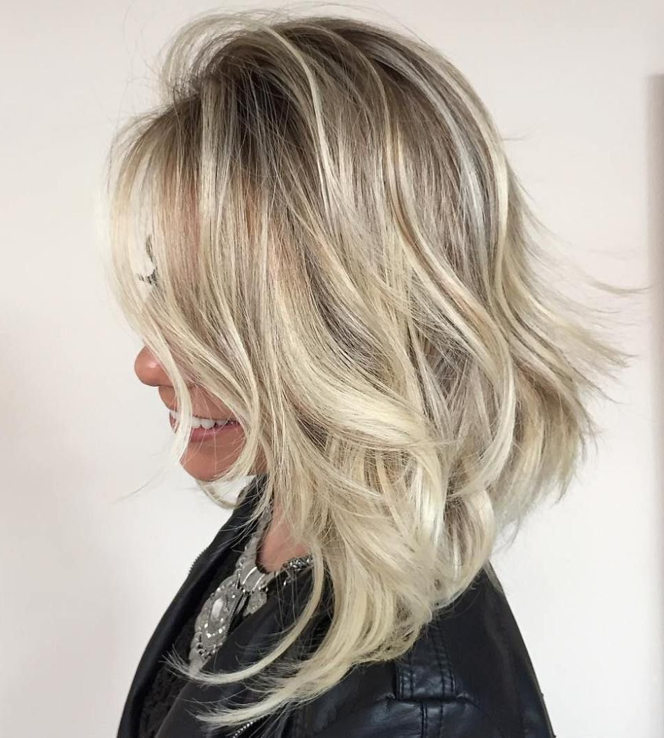 Popular Gorgeous Wavy White Shag Haircuts Pertaining To 60 Best Variations Of A Medium Shag Haircut For Your (View 14 of 20)