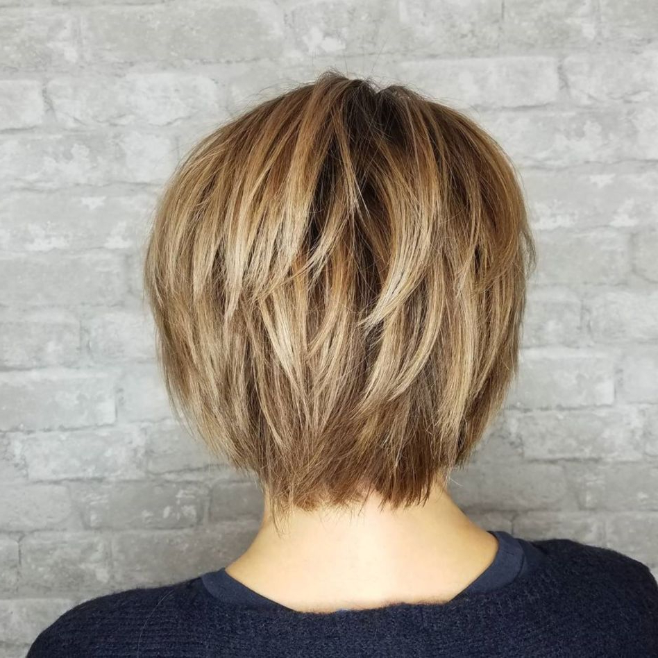 Popular Layered Bob Shag Haircuts With Balayage For 60 Short Shag Hairstyles That You Simply Can't Miss In 2019 (Gallery 3 of 20)