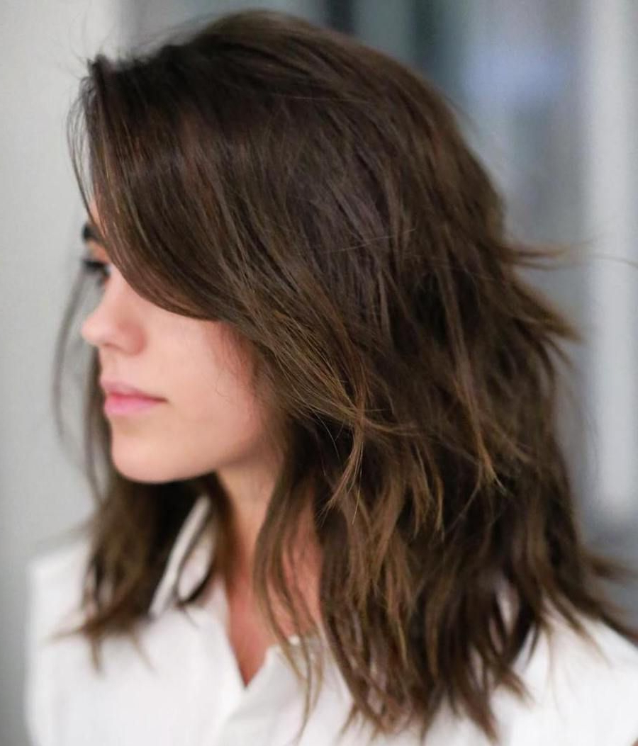 Popular Mid Length Feathered Shag Haircuts For Thick Hair With Regard To Pin On Hair (Gallery 1 of 20)