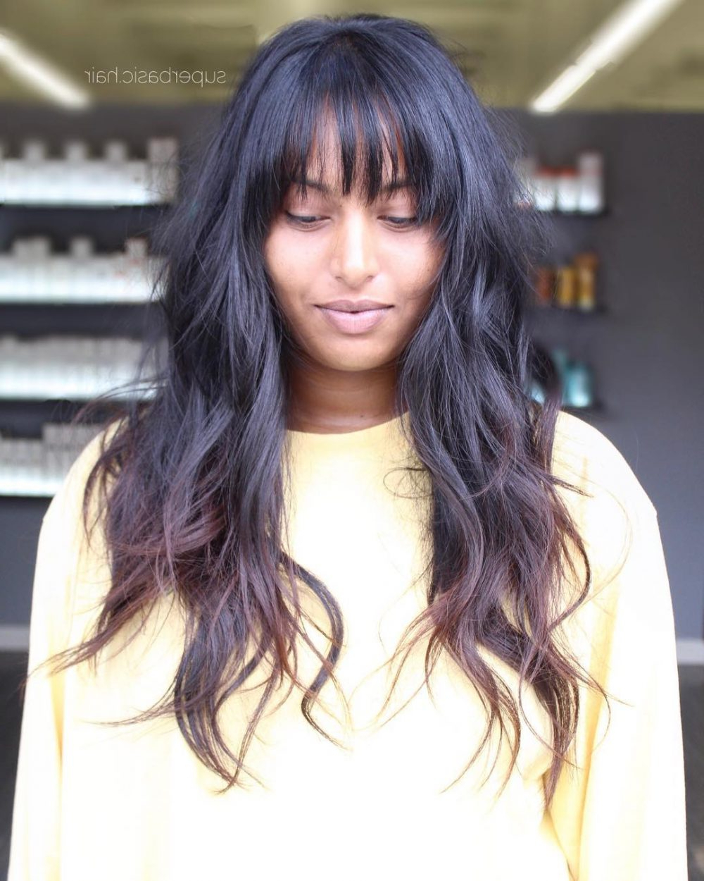 Preferred Black Shag Haircuts With Feathered Bangs Regarding Long Shag Haircuts: 36 Examples For (View 9 of 20)