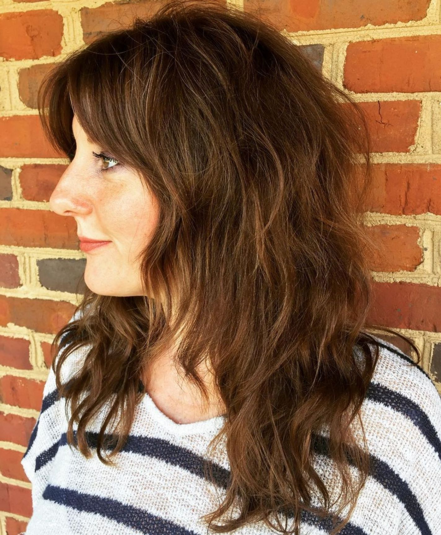 Preferred Long Chestnut Brown Shag Hairstyles In Pin On Hair And Beauty (Gallery 2 of 20)
