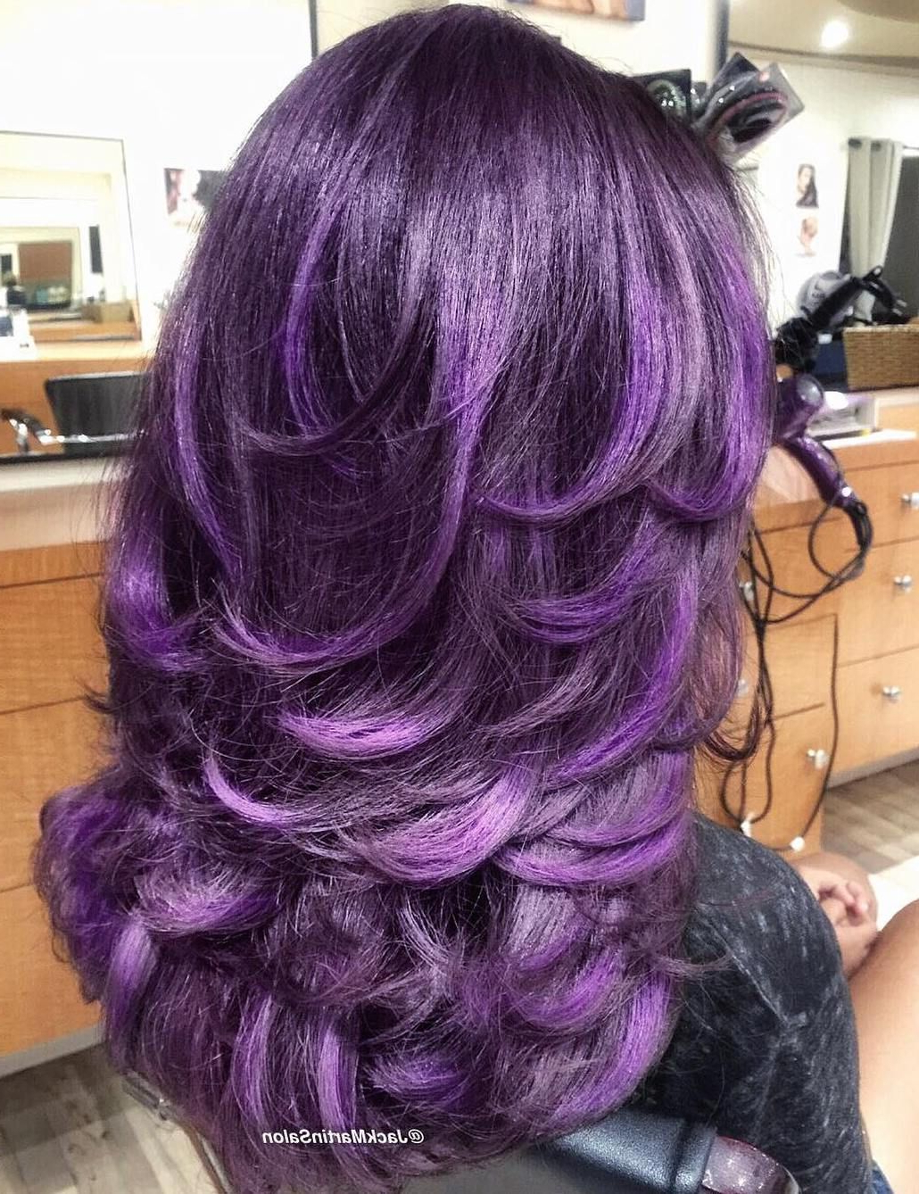 Preferred Long Lavender Layers Shaggy Haircuts Pertaining To 60 Lovely Long Shag Haircuts For Effortless Stylish Looks (View 5 of 20)