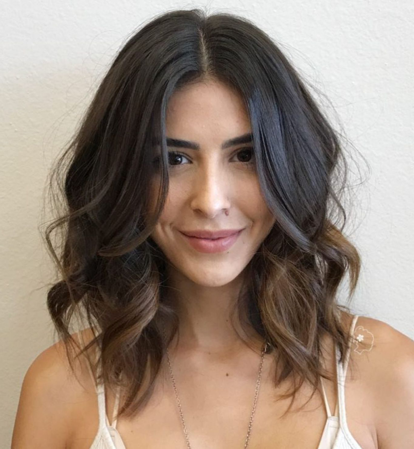 Preferred Loose Shaggy Curls Hairstyles With Regard To Messy Curled Brunette Lob #balayagehairbobcurls (Balayage (Gallery 2 of 20)
