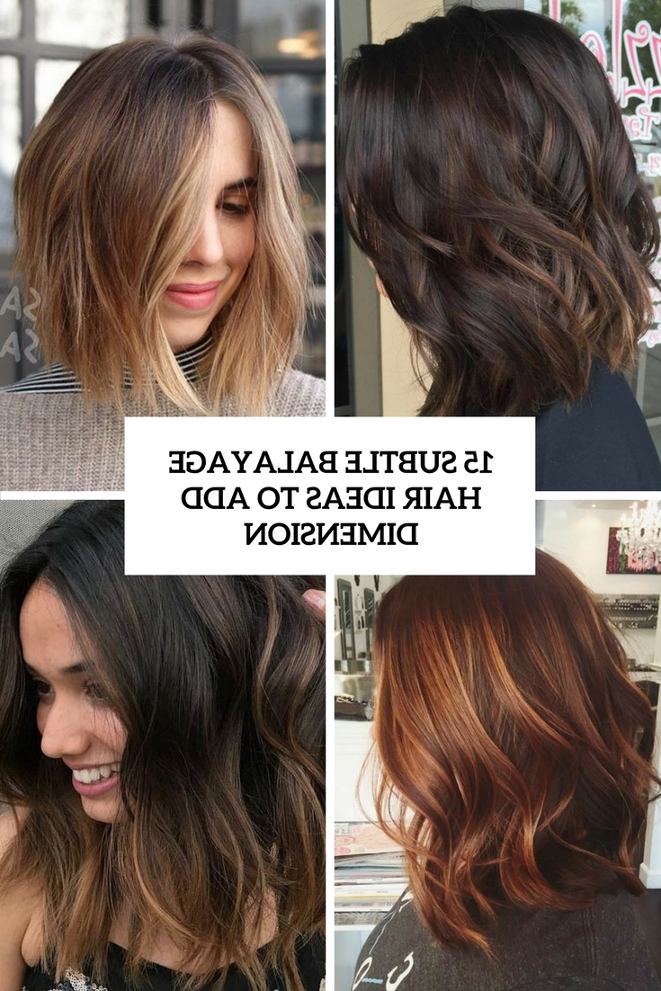 Preferred Medium Haircuts With Subtle Balayage Intended For 15 Subtle Balayage Hair Ideas To Add Dimension – Styleoholic (Gallery 17 of 20)