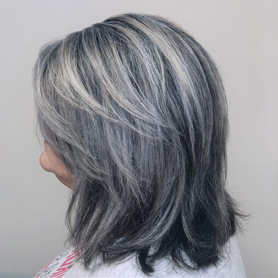 Preferred Medium Silver Layers Hairstyles In 60 Trendiest Hairstyles And Haircuts For Women Over 50 In (View 12 of 20)