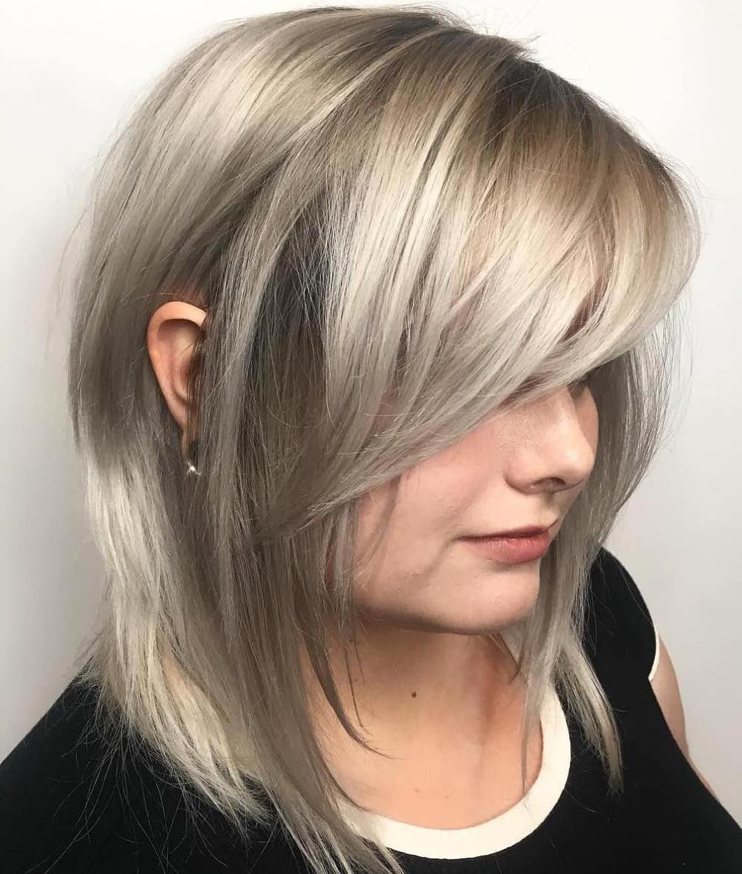 Preferred Medium Sliced Ash Blonde Hairstyles Regarding How To Pull Off Medium Length Haircuts And Hairstyles In 2019 (Gallery 19 of 20)