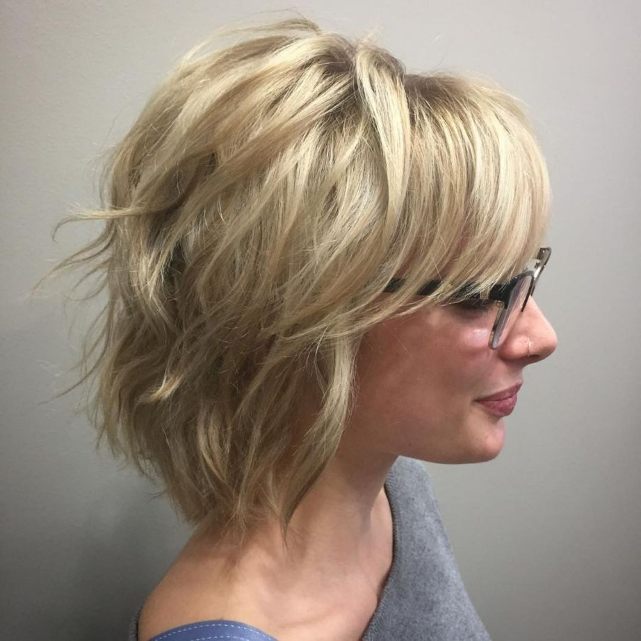 Preferred Razored Blonde Bob Haircuts With Bangs Within 60 Most Universal Modern Shag Haircut Solutions (Gallery 1 of 20)
