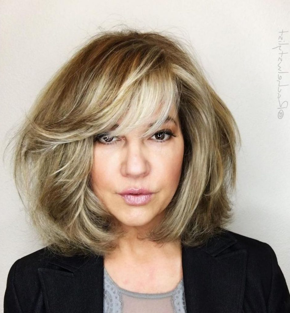 Preferred Razored Shaggy Chocolate And Caramel Bob Hairstyles For 25 Most Prominent Hairstyles For Women Over 40 (Gallery 20 of 20)