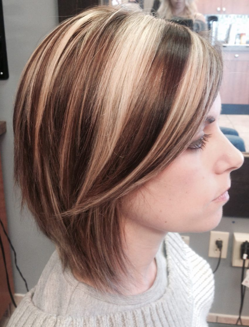 Preview Medium: Short Hair Bob Haircut Highlights Lowlights With Regard To Short Bob Hairstyles With Highlights (View 18 of 20)