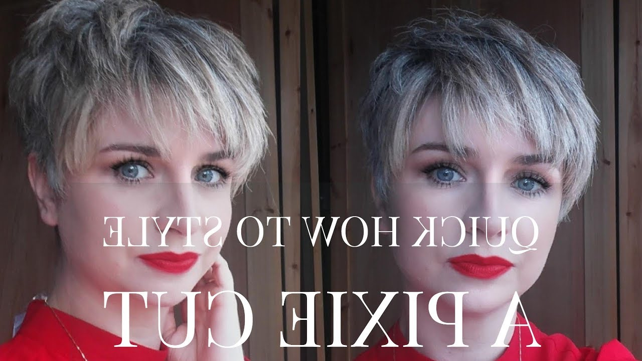 Quick How To Blow Dry/ Style A Pixie Cut Hairstyle  Undercut Hall Styling Throughout Gray Pixie Haircuts With Messy Crown (Gallery 20 of 20)